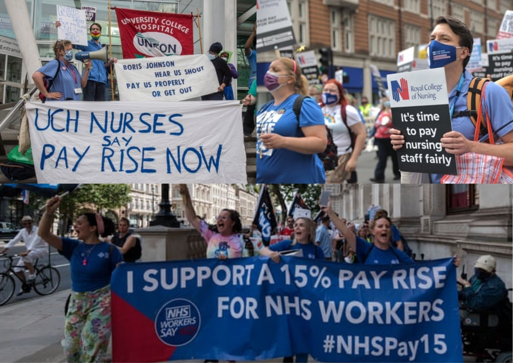 Reasons why NHS staff oppose 3% pay rise